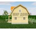 ПД79 Проект 1-этажного дома из бруса с мансардой 6х9 м. 99 кв.м.