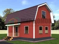 ПД12 Проект 1-этажного дома из бруса с мансардой 6х9 м. 102 кв.м.