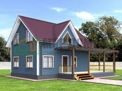 ПД3 Проект 1,5-этажного дома из бруса 7х9 м. 154.75 кв.м.