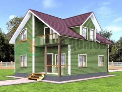 ПД4 Проект 1,5-этажного дома из бруса 8х10 м. 160 кв.м.