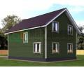 ПД58 Проект 1,5-этажного дома из бруса 8х10 м. 136.6 кв.м.