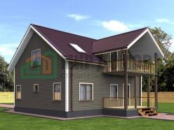 ПД6 Проект 1,5-этажного дома из бруса 9х10 м. 208.5 кв.м.