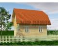 ПД61 Одноэтажный дом из бруса 6х6 м с мансардой. 60 кв.м.