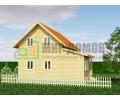 ПД74 Проект 1,5- этажного дома из бруса 8x8 м. 109 кв.м.