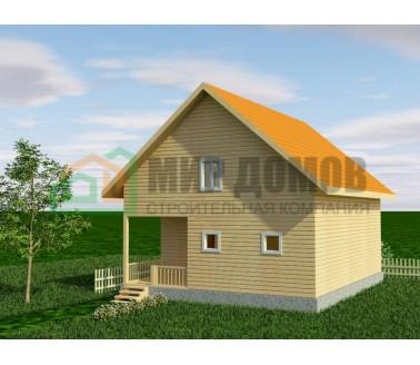ПД75 Проект 1,5- этажного дома из бруса 8х10 м. 160 кв.м.