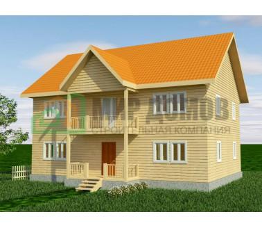 ПД78 Проект 2-х этажного дома из бруса 12x12 м. 216 кв.м.