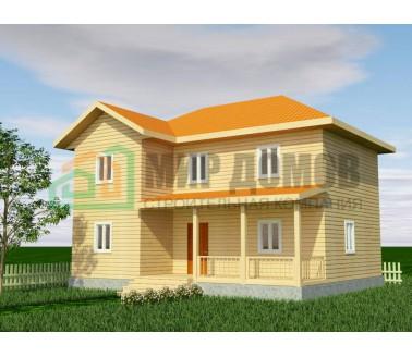 ПД82 Проект 2-х этажного дома из бруса 8x10 м. 147 кв.м.