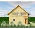 ПД83 Проект 1,5- этажного дома из бруса 8х10 м. 161 кв.м.