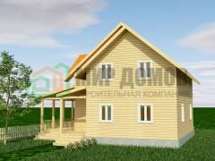 ПД84 Проект 1,5- этажного дома из бруса 8 на 9 м. 160.5 кв.м.