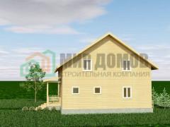 ПД86 Проект 1,5- этажного дома из бруса 9х12 м. 184 кв.м.