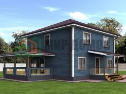 ПД9 Проект 2-х этажного дома из бруса 9 на 9 м. 212 кв.м.