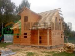 Объект №1Строительство дома 6х9 м с мансардой из профилированного бруса в д. Белыхино,Ступинского р-на,Московской области