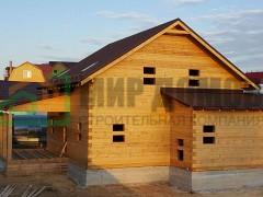 Объект №2Строительство полутораэтажного  дома 9х9 м из профилированного бруса в д.Данилово ,Пушкинского р-на, Московской области