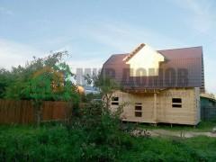 Строительство дома 6х9 м с мансардой из профилированного бруса по проекту ПД79 в д.Дорохово, Рузского р-на, Московской области