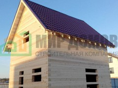 Строительство полутораэтажного дома 6х6 м из профилированного бруса в д. Дятловка,Балашихинский административный округ, Московской обл.