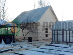 Строительство дома 8х8 м с мансардой из профилированного бруса по проекту ПД30 в г. Ивантеевка,Московской области
