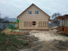 Строительство дома 8х10 м с мансардой из профилированного бруса в д.Лыткино ,Можайского р-на ,Московской области