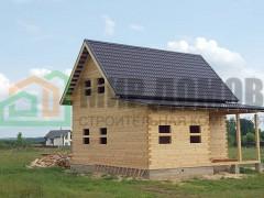 Строительство полутораэтажного дома 6х8 м из профилированного бруса по проекту ПД74 в п. Прибрежный, Можайского р-на,Московской области