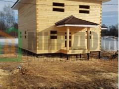 Строительство двухэтажного дома 8х10 м из профилированного бруса в д.Ашукино,Пушкинского р-на, Московской области
